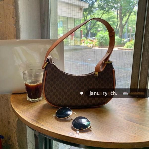 セリーヌブランドレディース脇バッグファッションクラシックCelineプリント肩掛けバッグ高級感人気 手提げバッグ