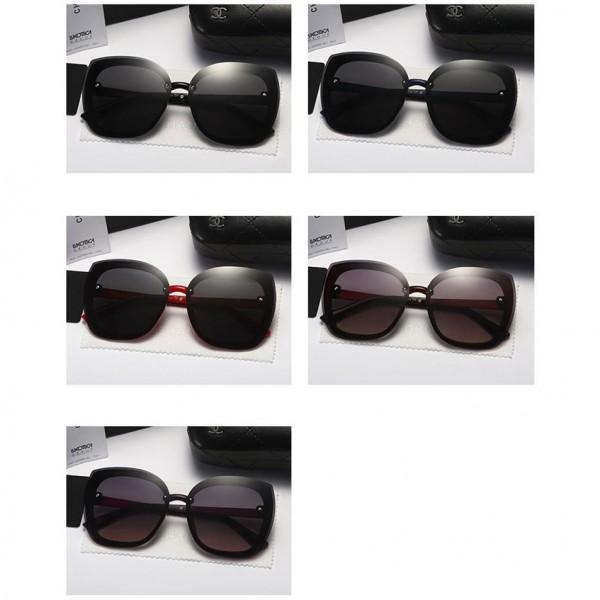 シャネルレディースおしゃれサングラスブランドパロディ風UVカットグラスファッション軽量insサングラスコーディネート型