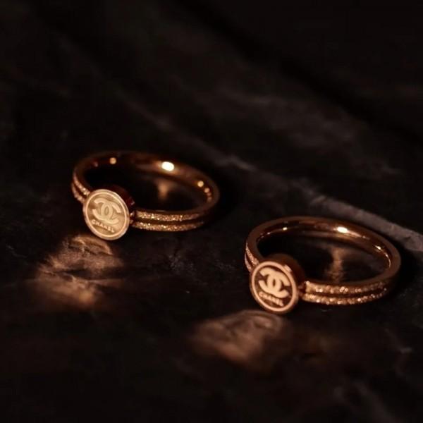 シャネルブランドおしゃれ指輪レディースファッション金メッキリング気質潮流アクセサリー北欧風プチプライス指輪