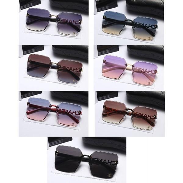 シャネルブランドサングラスレディースChanelロゴ付きサングラスファッションUVカット軽量サングラス気質おしゃれサングラス