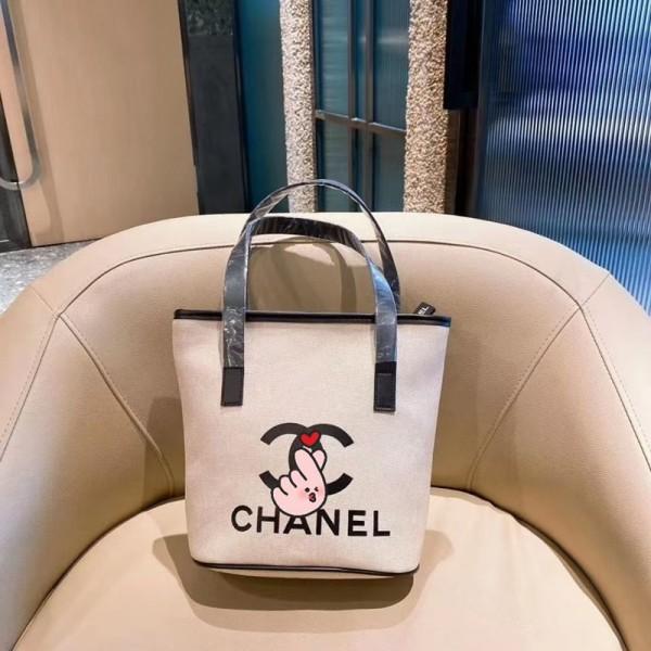 シャネルブランドキャンバスバッグレディースおしゃれバケットバッグスタイリッシュ肩掛けバッグ高級感2021女の子小さめバッグ
