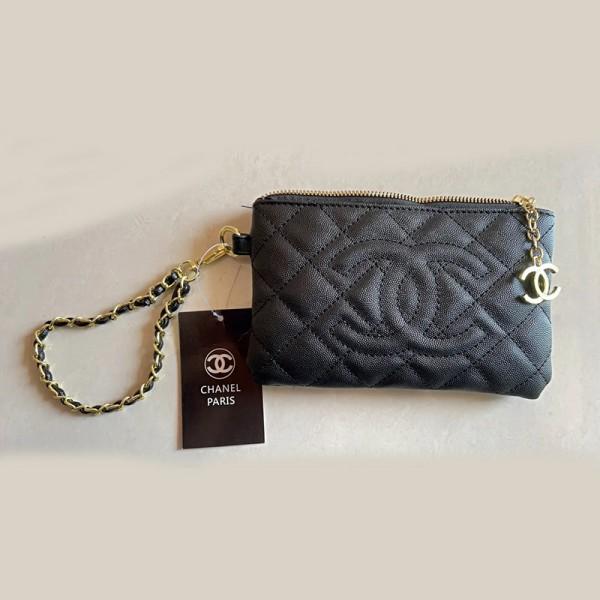 シャネルブランドおしゃれ財布レディース小銭カード携帯電話 収納バッグ菱格チェーン刺繍ファスナー財布