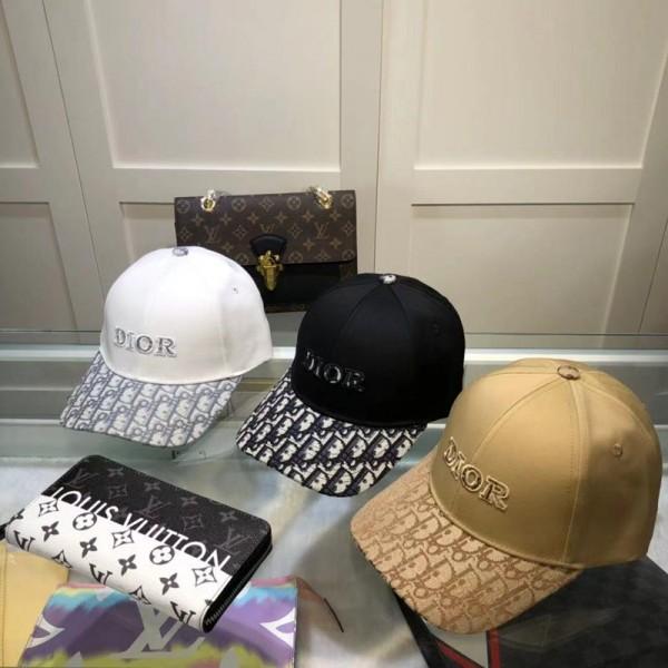 ディオールブランドキャップおしゃれ日焼け止めハンチング帽Dior刺繍ファッション野球帽カジュアル男女兼用ハット
