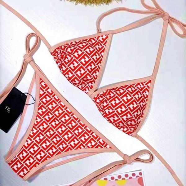 フェンディブランドレディースセクシービキニファッションホルターネック三角ビキニins欧米風スイムウェアビーチ温泉バケーション水着