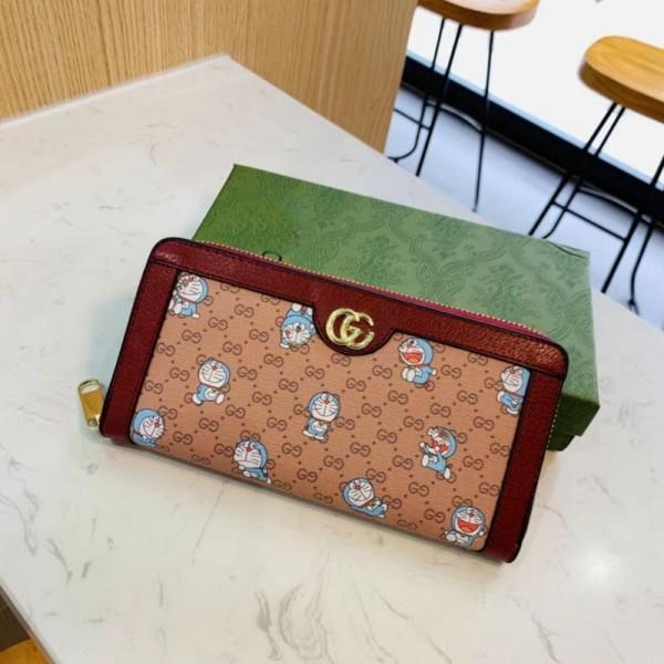 グッチブランド春ファッション長財布トレンド大容量 財布2021漫画クラッチバッグかわいいドラえもん 多収納 財布