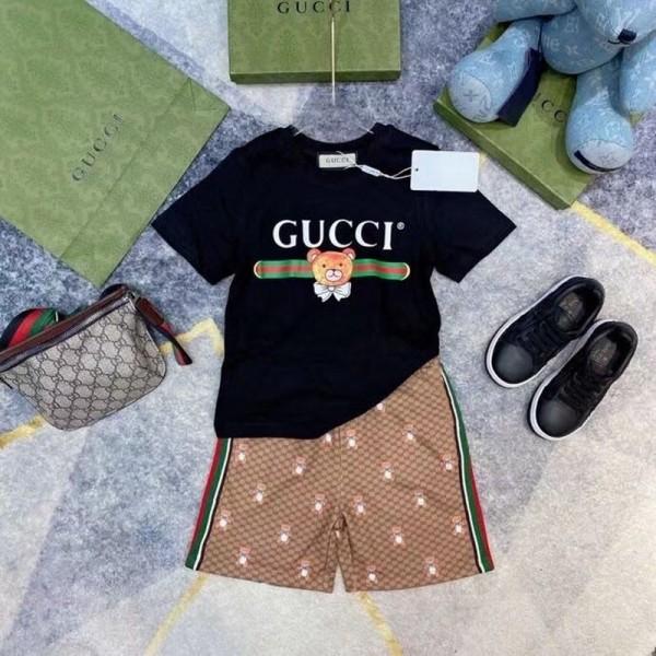 夏グッチブランド子供セットコットン2021男の子女の子セット半袖tシャツ半ズボン可愛い風キッズカジュアルジェンダーレス服