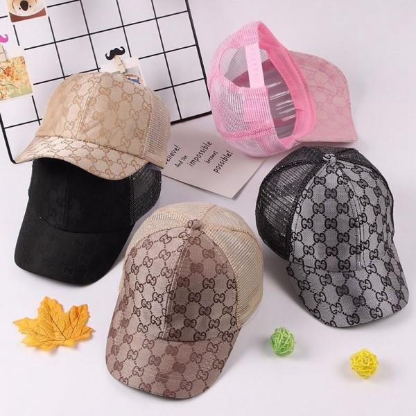 グッチ夏 子供キャップブランド男の子と女の子Gucci定番プリント野球帽ファッション日焼け止め通気性がよい薄いモデルメッシュキャップ
