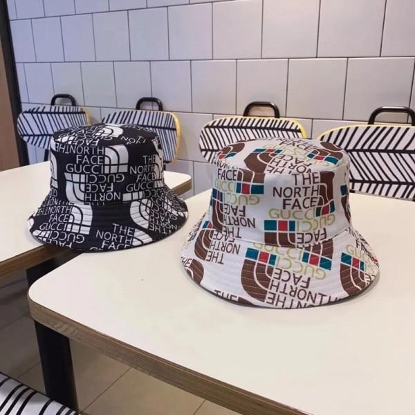 2021新品グッチファッション漁師の帽子ブランドザノースフェイス日焼け止めカジュアルバケットハット男女兼用 夏秋 激安