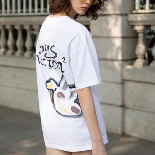 2021春夏ルイヴィトンtシャツブランド半袖コットントップスレディースおしゃれ部屋着メンズゆったりTシャツ大きなサイズtシャツ