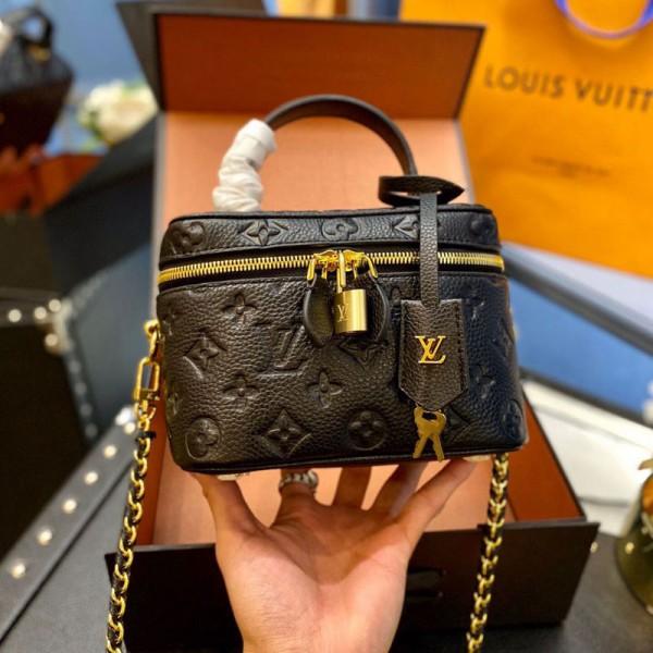 ルイヴィトンブランドおしゃれバッグファッション潮流ハンドバッグブラック大人っぽい斜め掛けカバンレディース高品質なバッグ