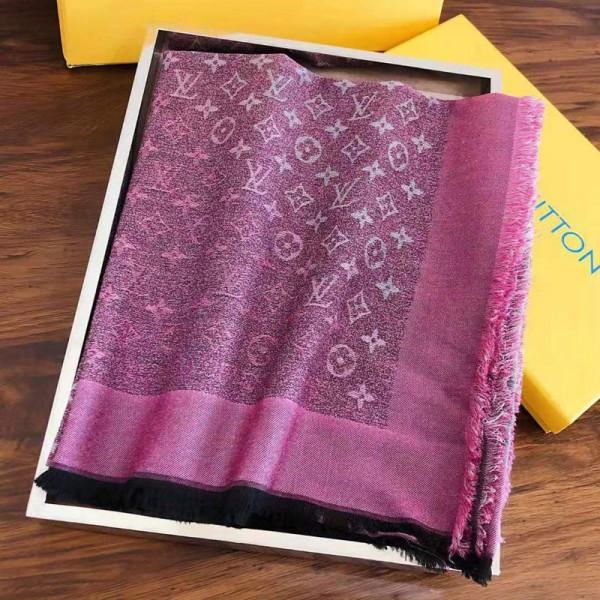 ルイヴィトンブランドレディースマフラーおしゃれ大きめ方形スカーフ柔らかい肌に優しいマフラーLV定番プリントショール