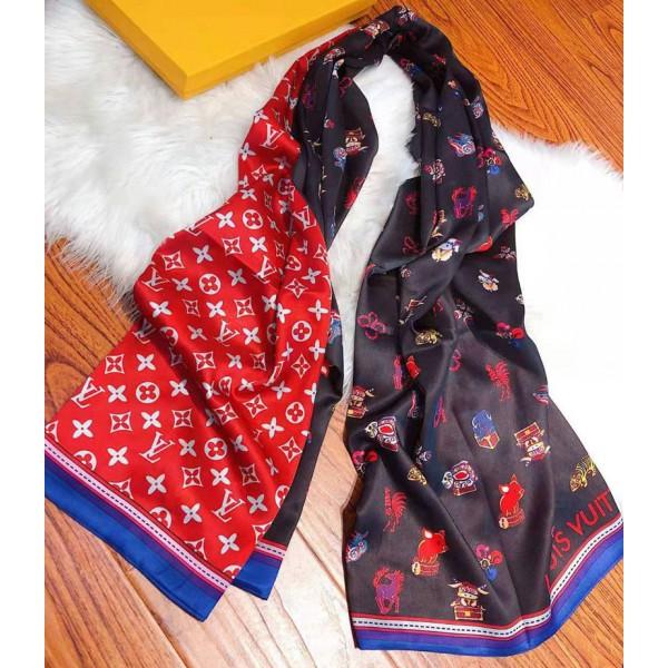 ルイヴィトンブランドレディースおしゃれマフラー柔らかい滑らかショールLV定番プリントスカーフ肌に優しいソフトスカーフ