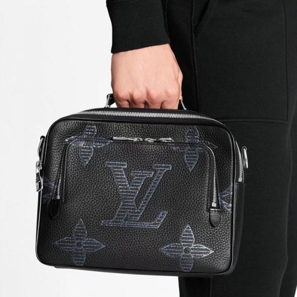 ルイヴィトンハイブランド手提げバッグメンズファッションハンドバッグビジネス高品質なメッセンジャーバッグ通勤