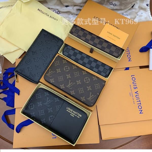 ルイヴィトンブランドファッション長財布ファスナー型 お金 カード収納 財布レディースメンズ高品質なレザー長財布