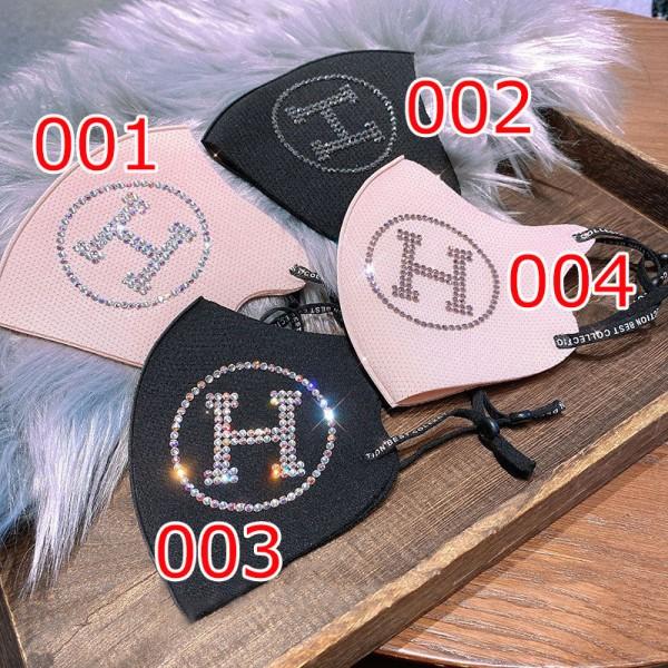 ハイブランドH3D立体マスクキラキラロゴ防塵 飛沫ウイルス 対策 布マスクおしゃれレディース洗えるマスクやわらかい耳が痛くないmaskブランド激安大人サイズ
