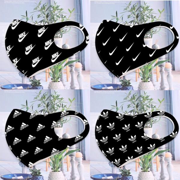 アディダス1枚繰り返しマスク3D立体型マスク抗菌 コロナウィルス対策マスクNike蒸れない 耳が痛くないマスクパロディブランドナイキレディースメンズ洗える