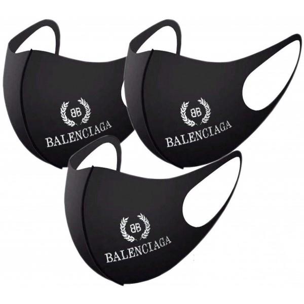 バレンシアガブランドマスク洗える布マスクパロディ風Balenciaga高品質なマスク通販 在庫ありやわらかい耳が痛くないマスク 大人サイズ 人気
