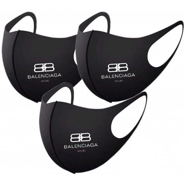 Balenciagaバレンシアガマスクシンプルでスタイリッシュ布マスクブランドパロディ風3D立体マスク小顔 効果抜群レディースメンズマスク高品質な洗えるマスク