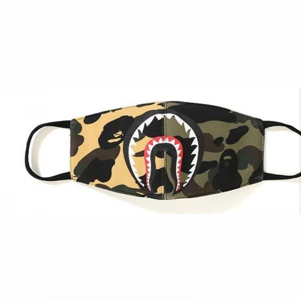 ハイブランド布マスクファッション迷彩パッチワークサメマスクスーパーコピーサメの口の創造的な個性マスク大人用ウイルス飛沫対策洗えるマスク