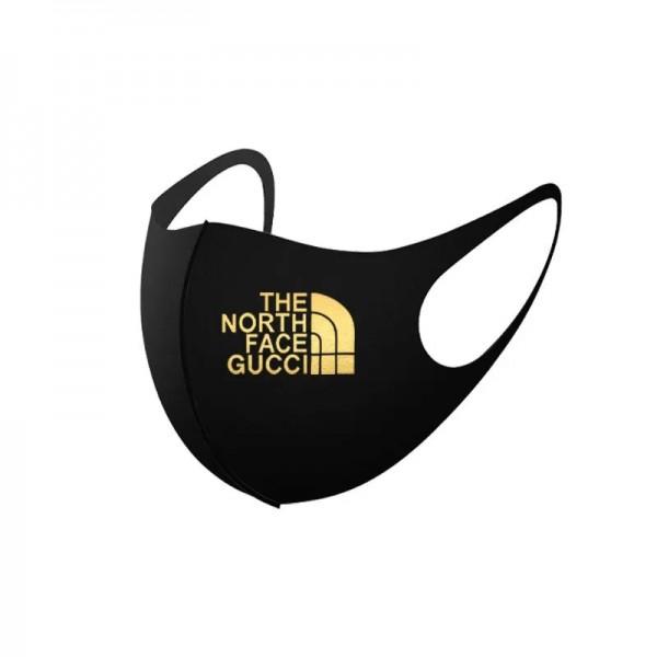 2枚入りマスクグッチ The north face連名款ハイブランドファッション洗えるmask夏 薄手 通気性がよいマスク在庫あり小顔フェイス3d立体マスク