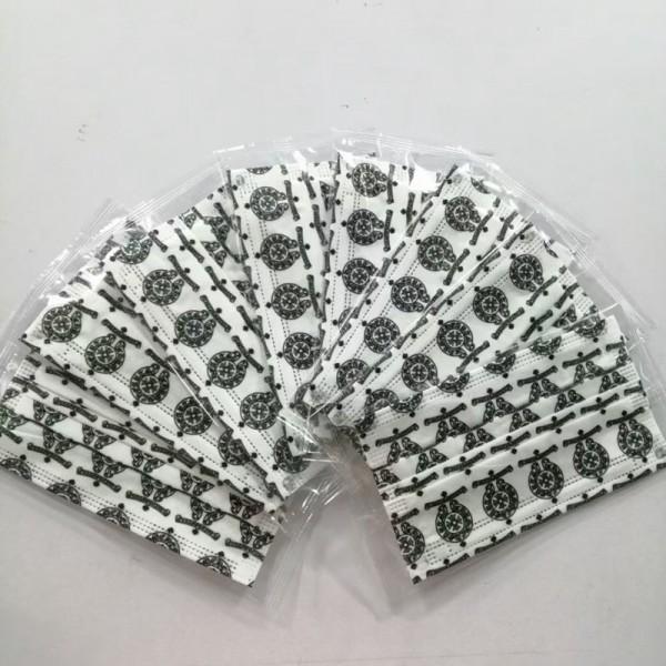 クロムハーツブランドおしゃれ不織布マスク10枚入りファッション防塵 防菌 防護マスクChrome Hearts男女兼用人気使い捨てマスク