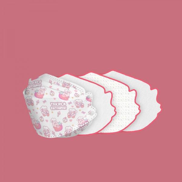 1韓国版KF94かわいい星のカービィ使い捨て防護マスクブランドピンクプリントキャラクター不織布マスクウィルス対策 医療用マスク個包装