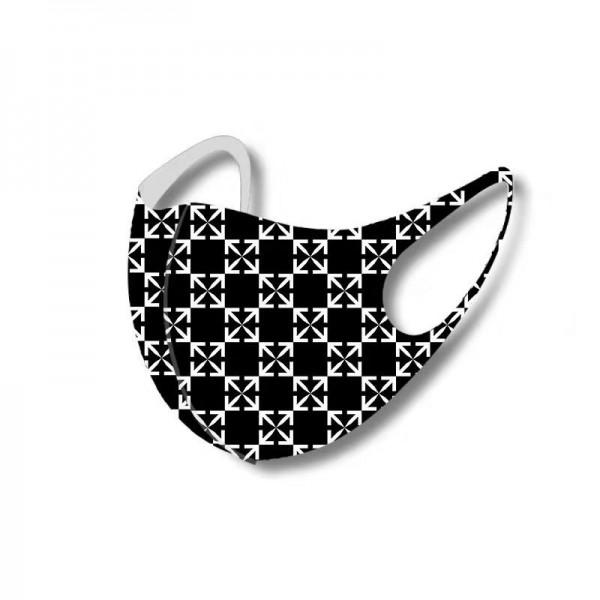 オフ-ホワイトブランドシンプル洗えるマスク3D立体フェイス繰り返しマスク夏 氷の糸マスク通気性がよい防護マスク
