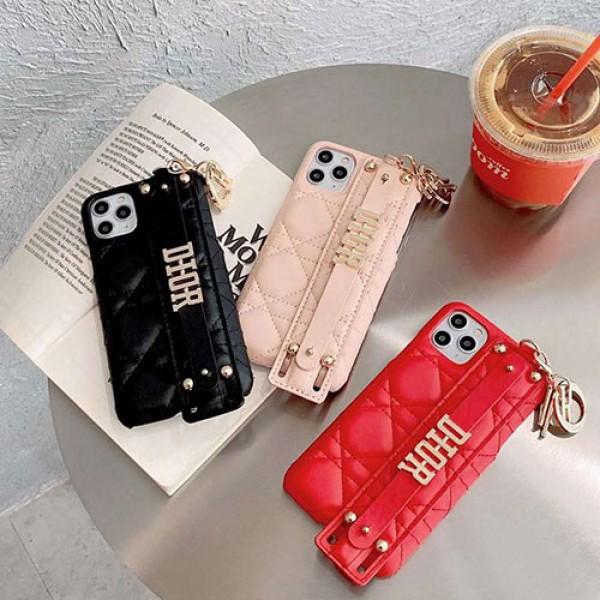 Dior ディオール アイフォンiphone 12/12mini/12pro/12pro maxケース キーホルダー ハンドバンド付き ファッション経典 メンズiphone 11/x/8/7スマホケース ブランド LINEで簡単にご注文可アイフォン12カバー レディース バッグ型 ブランド