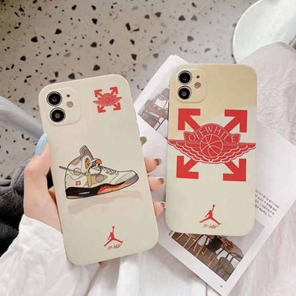 OFF WHITE/オフホワイトins風 iphone12/12mini/12pro/12pro maxケースかわいいジャケット型 2020 iphone12ケース 高級 人気スポーツ風 Air Jordan エアジョーダン iphone 12 mini/11/xs/x/8/7ケースiphone x/8/7 plusケース大人気