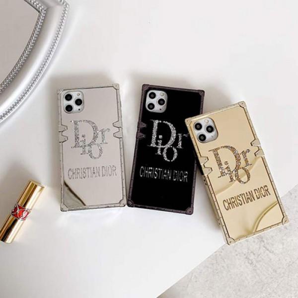 Dior/ディオールペアお揃い アイフォン12 pro/12 pro maxケースフレーム きらきら ins風 かわいい   iphone 11/xs/x/8/7ケース女性向け iphone 11/12 pro max/xr/xs maxケースアイフォン12カバー レディース バッグ型 ブランド