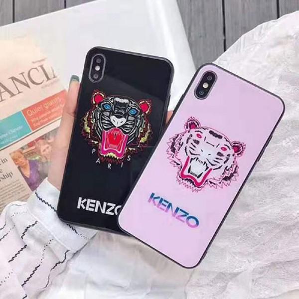 KENZO/ケンゾーペアお揃い アイフォン12/12 mini/12 pro/12 pro maxケースガラス 虎頭柄   iphone 11/xs/x/8/7ケースiphone xr/xs max/11proケースブランドモノグラム iphone12/11pro maxケース ブランド