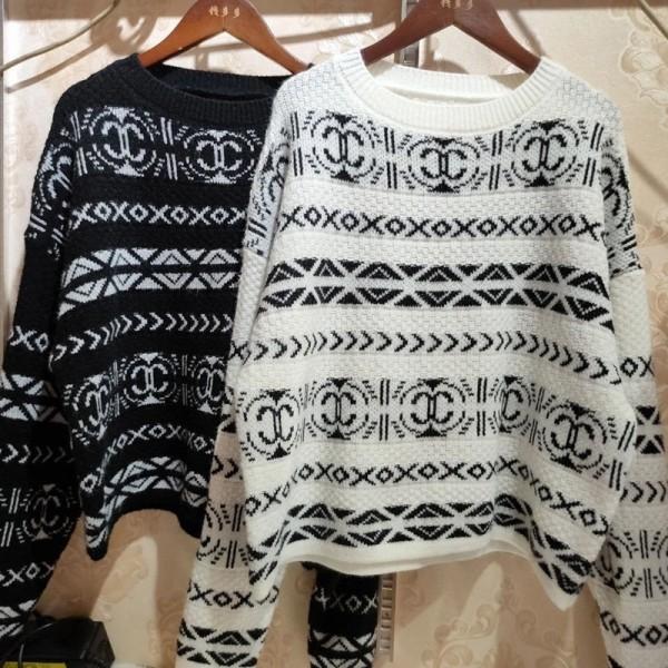 シャネルハイブランドセーターファッション高品質ニット長袖セーター上着 齢を減らして着瘦せコーデ快適セータートップス