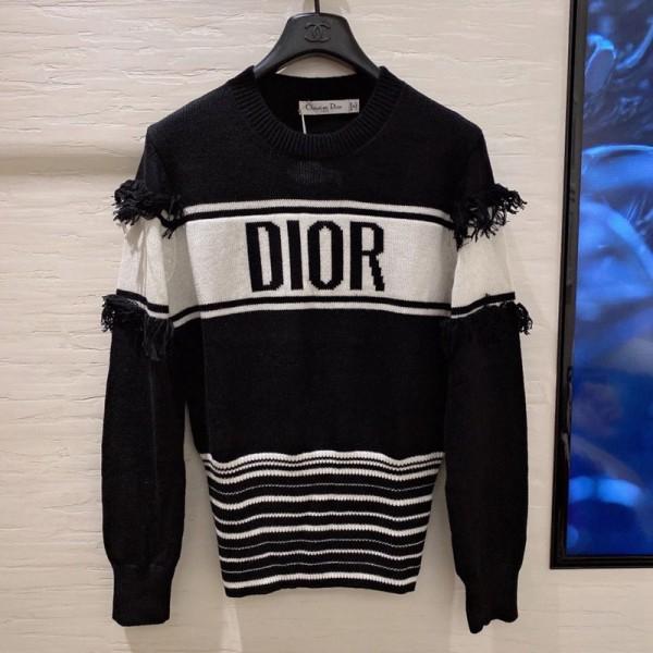 ブランドディオール セーター おしゃれ長袖ニットセータレディース ゆったり 春秋冬服トップス 上着服 ウェア 気質 高品質 Diorセーター