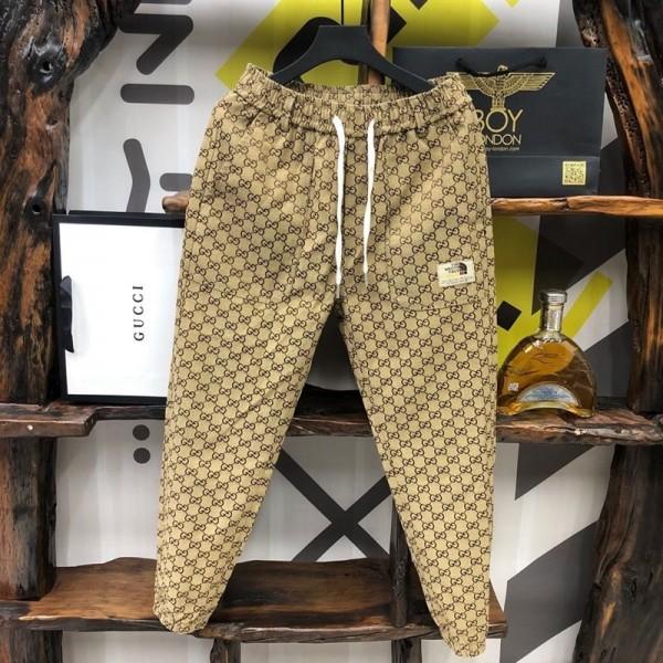 グッチブランド長ズボンメンズファッション潮流ザノースフェイスハレンのズボン2つポケットカジュアルテーパードパンツ男ズボン
