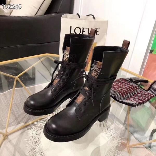 ルイヴィトンハイブランドマーティンブーツ ブリティッシュスタイル ファッションヴィトン高品質martin靴 女 快適シューズ