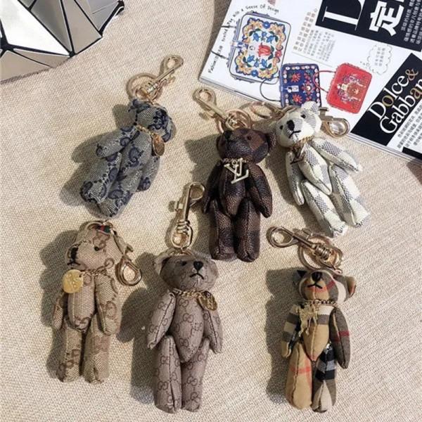ハイブランドルイヴィトンキーホルダー かわいい クマ トイ飾り物 グッチ バーバリー 収納 小物 雑貨 アクセサリー祝日 贈り物オススメ通販