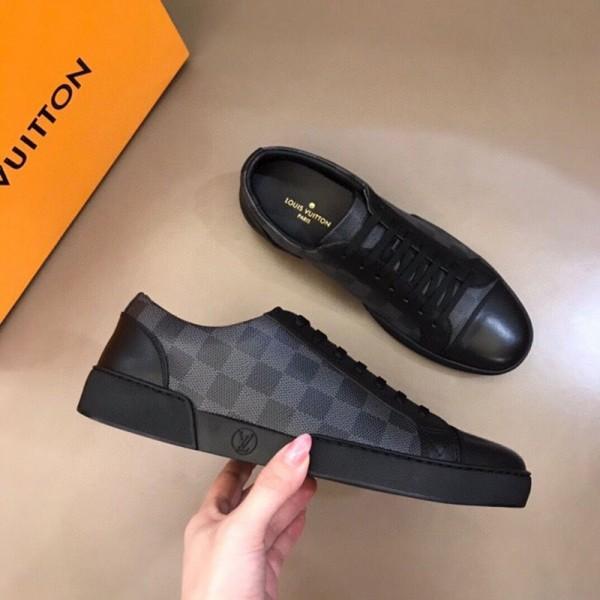 ルイヴィトンブランド靴シューズファッション高品質スニーカーメンズカジュアルクラシック碁盤縞ローカット靴 男