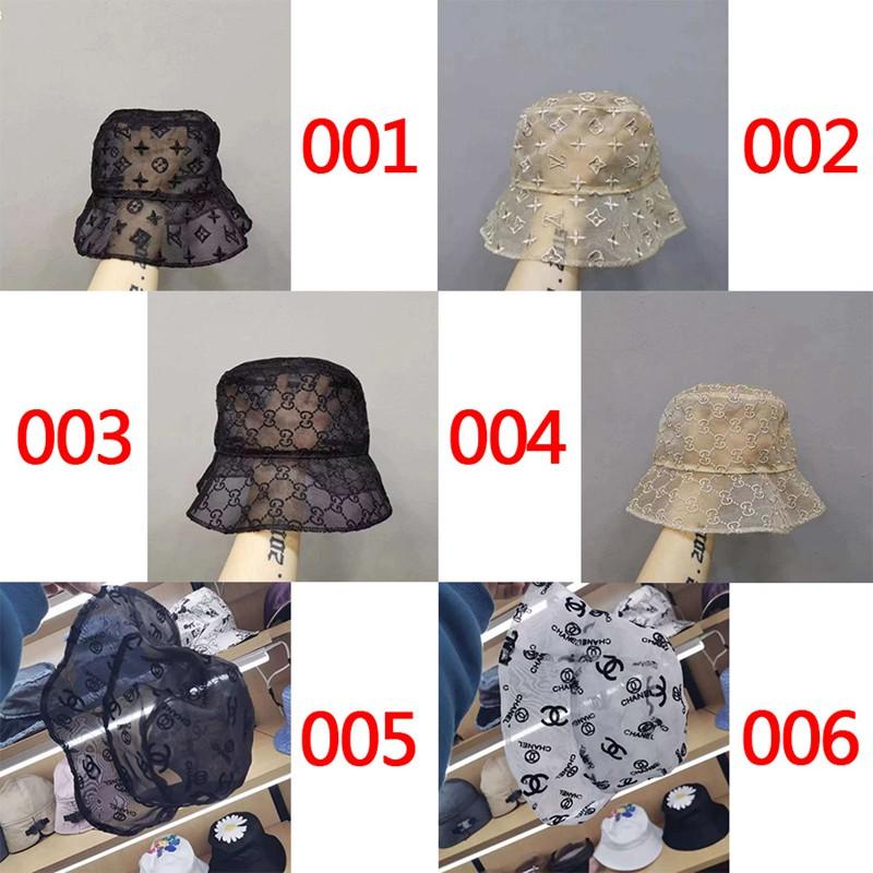 シャネル風日よけ帽子