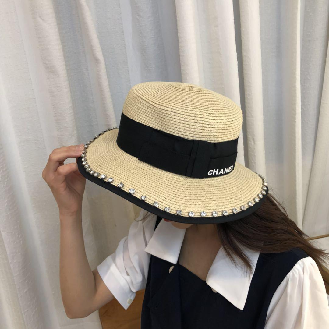 つば広帽ハット chanelサイズ調整可 クールで快適 サマーセール