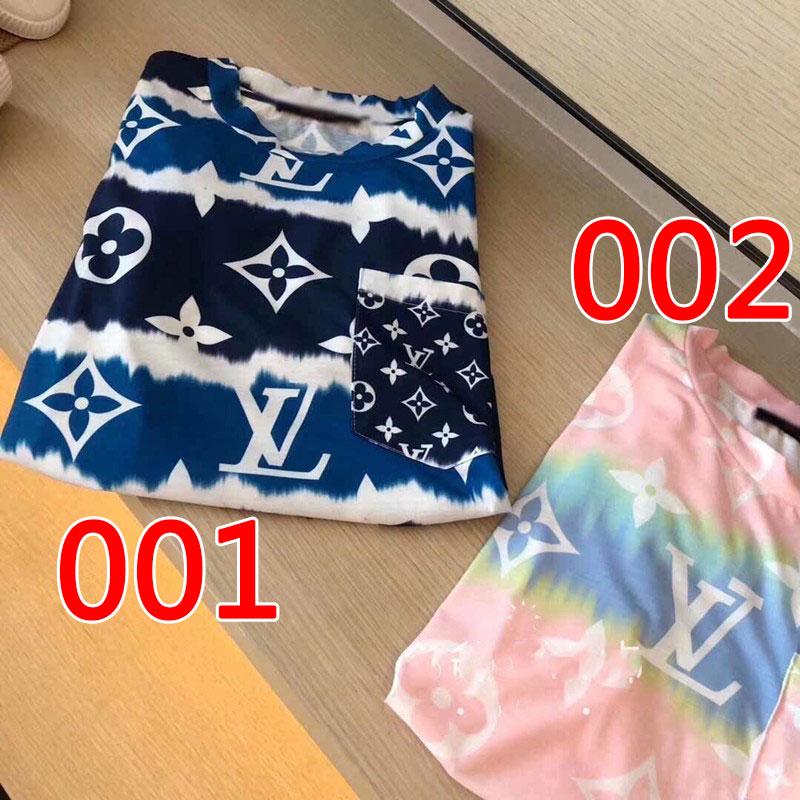 春 夏 LV Tシャツ 新色 ロゴプリントTシャツ 新元号