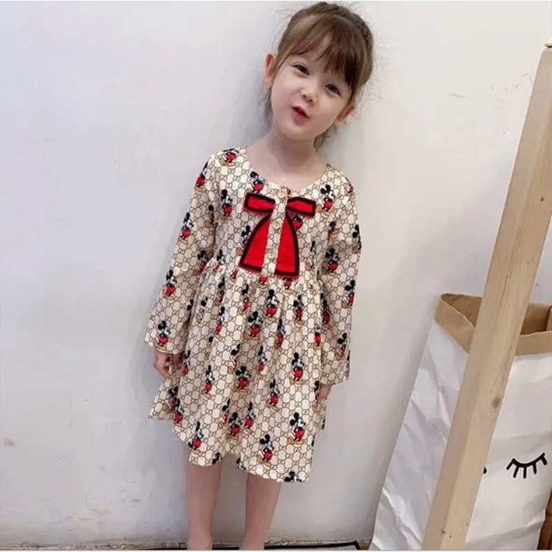 可愛い ミッキー フレアワンピース GUCCI ガールズ ドレス