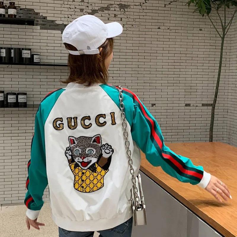 Gucci ジャケットネゴ柄 女性に向け長袖おしゃれ