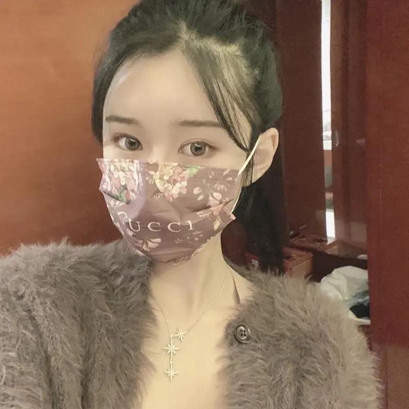 使い捨て 個包装 メルトブローン 不織布マスク コピー ピンク