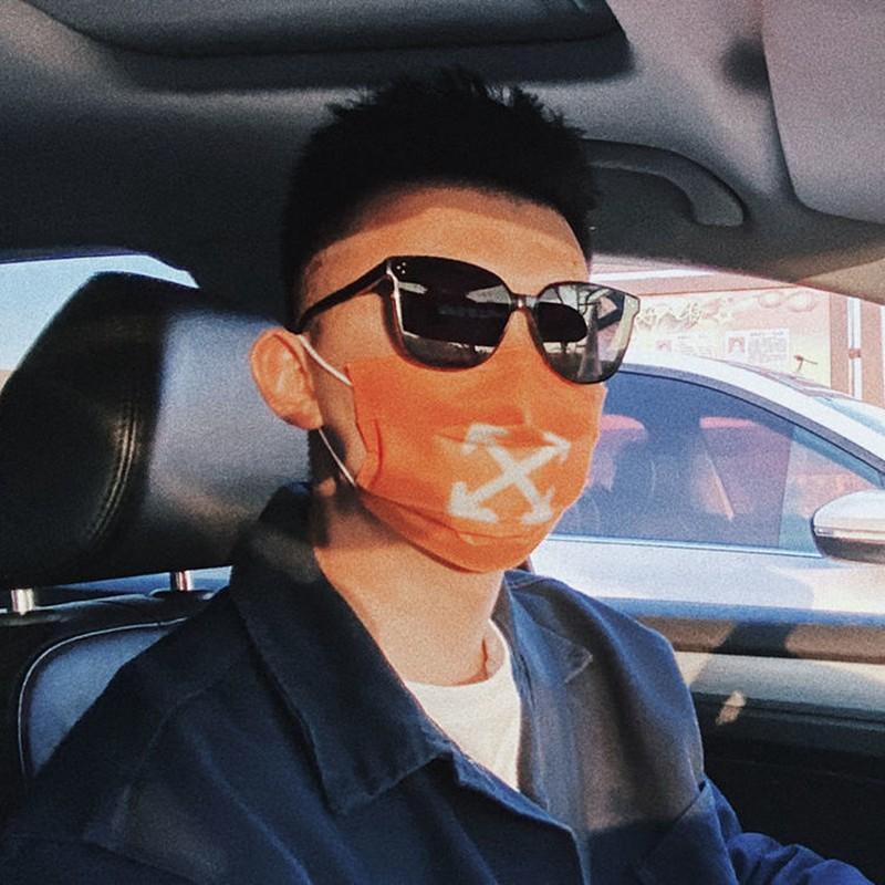 Off-White マスク コロナウイルス タイドブランド 使い切りマスク