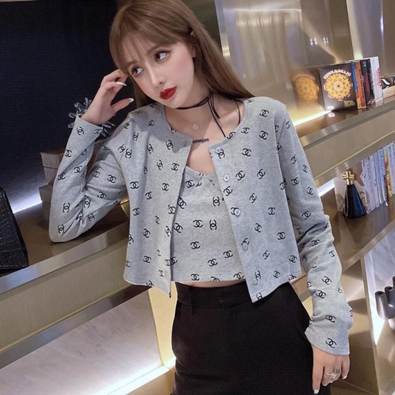 chanelファッションキャミソールコート2点セット