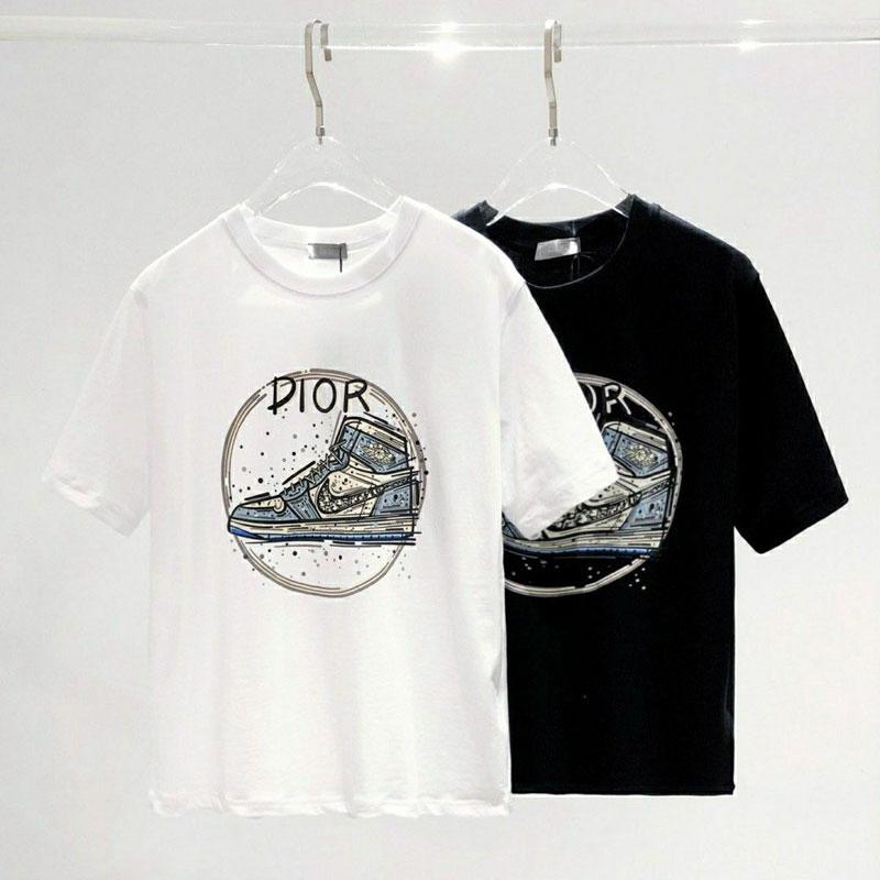 ハイブランドtシャツディオールナイキコラボゆったりtシャツ