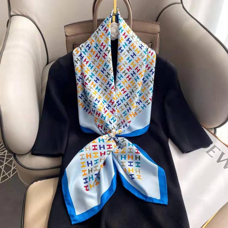 Hermes方形スカーフ春秋適用薄いマフラー
