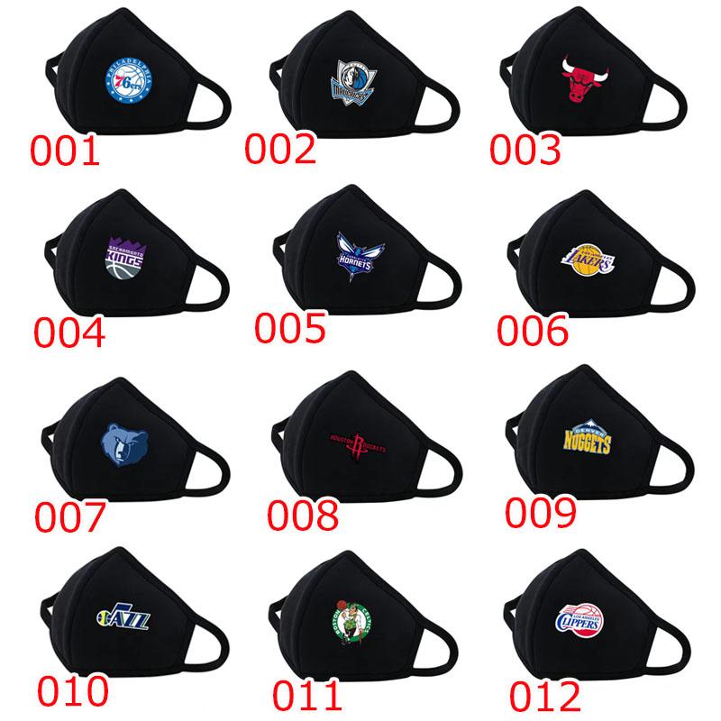 バスケットボール 洗える コットンフィット 布マスク 冬用マスク